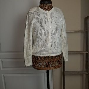 Ladies off white sweater